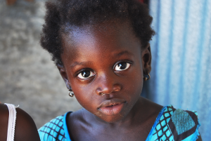 A child in Senegal