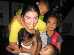 Children with Julia in Thailand